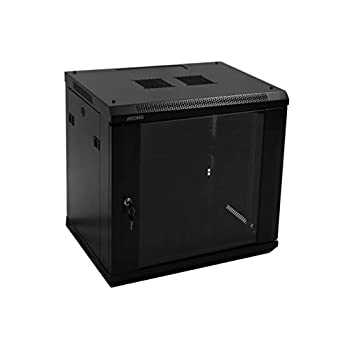 Image of Network Attached Storage AEONS 12U Professional Wall Mount Network Server Cabinet Enclosure 19-Inch Server Network Rack 16-Inches Deep Black