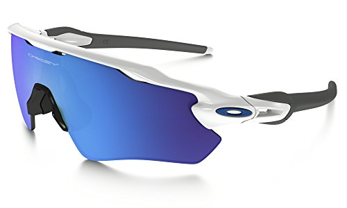 Oakley Radar EV Path Sunglasses Pol WHT / Sapphire Irid. & Care Kit - Ev Path Oakley