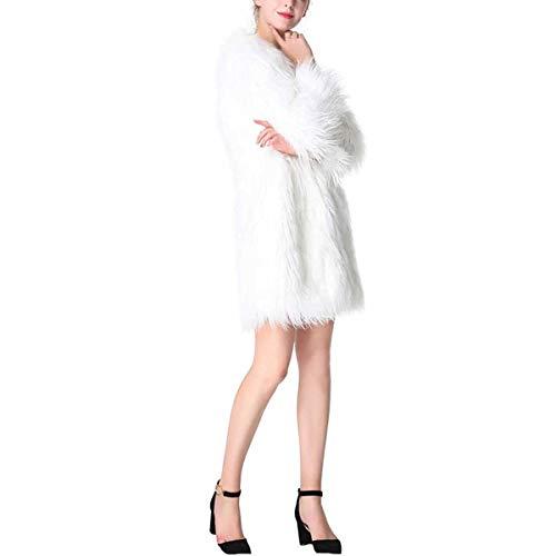 Manteau d'hiver  Manches Longues en Vrac (Color : White, Size : M)