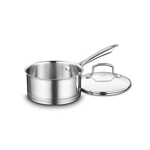 ofessional Stainless Saucepan with Cover, 1.5-Quart, Stainless Steel ()