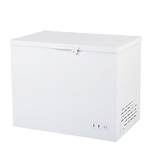 "Maxx Cold 40.6"" Wide Solid Hinged Top Commercial Chest Freezer with Locking Lid NSF Garage Ready Manual Defrost Keeps Food Frozen for 2 Days in Case of Power Outage, 9.6 Cubic Feet 272 Liter, White"