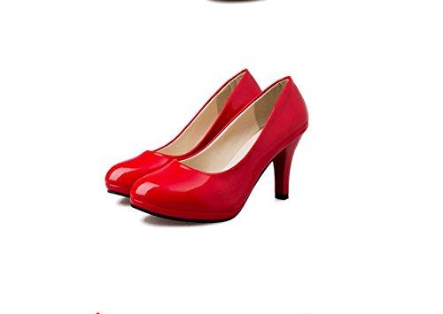 Gules High Piccole Ha Siviera Testa Donna 39 Heeled Shallowly Ufficio Nero Cuoio E Da Scarpe Scarpe Thirty six Piccole Di Solo GTVERNH Scarpe Scarpe Scarpe 1WqRpnRx5