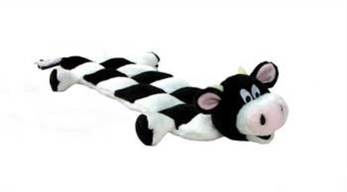 Squeaker Matz Dog Squeaky Toy Multi-Squeaker Toy for Dogs by Outward Hound, Long Body 16 Squeaker, Cow