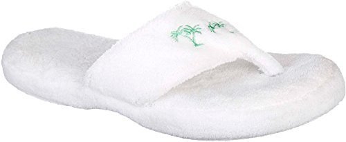 Capelli Womens Palm Tree Thong Slippers X-Large (Palm Tree Slipper)