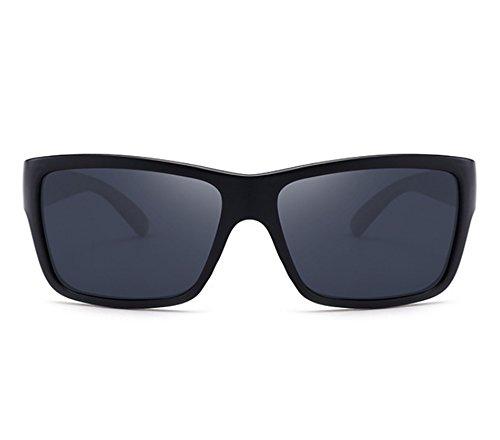de bloc Mat conduite Noir carré cadre Classique de soleil lunettes lunettes ébdJtbAmThVtsement épais polarisé Hellomiko Gris qf8YF6wF