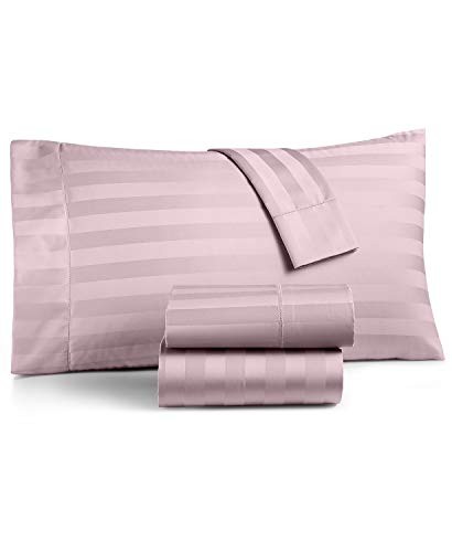 New Charter Club Damask Stripe - Charter Club Damask Stripe 550 Thread Count Supima Cotton 4 Piece Queen Extra Deep Sheet Set Pale Lilac