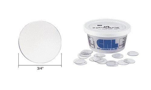 CRLClearPlasticDeskButtons100Pack - Clear Plastic Discs