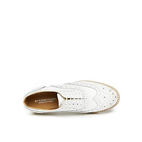 Stringata Oxford Con Cap Wing Bianco Di Donna White Colore Scarpa Decorazione Francesina 6gwOw