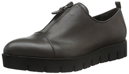 Kennel E Schmenger Schuhmanufaktur Milla Ladies Slipper Grey (nero Talpa / Canna Di Fucile Nero 633)