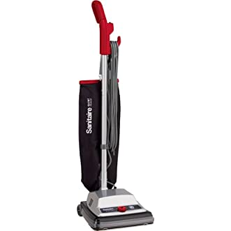 Sanitaire SC889A Commercial Quiet Upright 2 Speed Vacuum Cleaner with Disposal Bag and 7 Amp Motor, 12  Cleaning Path