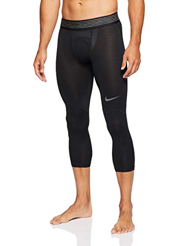 Tight Nike Winter Pro - Nike Pro Hypercool Men's 3/4 Training Tights (Black/Black/Dark Grey, M)