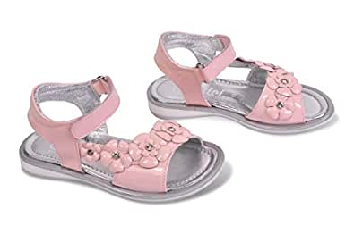 Amici Shoes Pink Flat Sandal For Girls