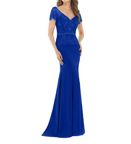 Etuikleider Royal mia Braut Blau Partykleider Lang Ballkleider Neu Meerjungfrau Abschlussballkleider Elegant 2018 Abendkleider La TvawqF7w