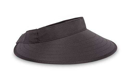 Sunday Afternoons Adult Sport Visor, Black, One Size
