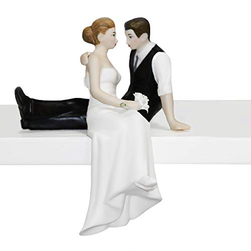 Cake Look (All Things Weddings Loving Look Bride and Groom Couple Wedding Cake Topper)