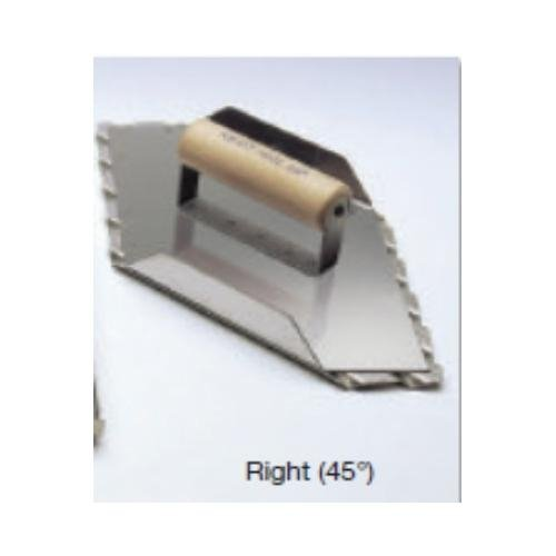Kraft Tool CF082, 13-1/2'' x 5-1/2'' Safety Ramp Right Hand Groover with 1-1/2'' Groove Spacing, Pack of 5 pcs