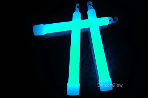 Set of 6 White Jumbo 6 Inch 12 Hour Safety Glow Light Sticks