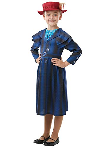 Rubie's Official Disney Mary Poppins Returns Movie Costume, Childs Book Week Character - Girls Size Medium Age 5-6 Years -