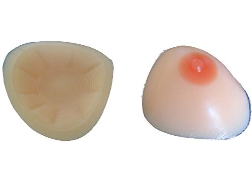 Meizi Cross Dress Triangle Shaped Fake Divided Silicone Breast Forms for Enhancement 1200g Suitable for Cup D J5486#D1 by Sex Toys Bondage Kit