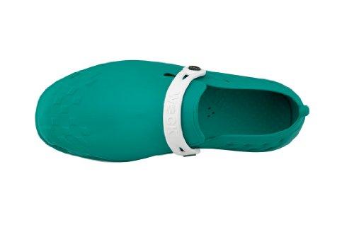 Nexo - Calzado de uso profesional WOCK - Antideslizante; Talón cerrado; Esterilizable; Absorción de impactos; Respirable Blanco/Verde
