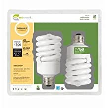 EcoSmart 23-Watt (100W) Dimmable Soft White CFL Light Bulb (2-Pack)