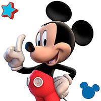((4x13) Disney Mickey Mouse Clubhouse Package of Clear Stickers)