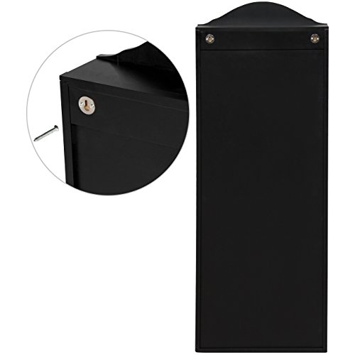 Best Choice Products Wall Mounted Mirror Jewelry Cabinet Armoire Black by Best Choice Products (Image #5)