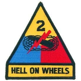 """US Army, Hell ON Wheels - Novelty Patches, Embroidered Sew On Patch - 3.75"""""""