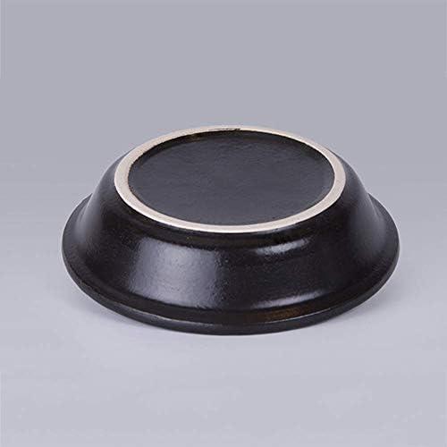 AXAA Plat marocain fait main en céramique avec couvercle résistant à la chaleur 21 cm cocotte adaptée à différents styles de cuisson, ours