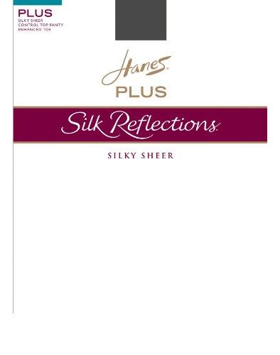 (Hanes Silk Reflections Plus Sheer Control Top Enhanced Toe Pantyhose)