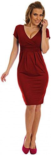 matita vestito 573 estivo eleganti Empire V scollo Glamour a a donna Cremisi abito WcAP10PqYI