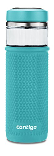 Contigo 2039253 Glass Water Bottle with a Quick-Twist Lid, 2
