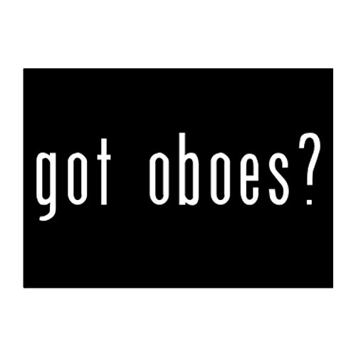 Got Oboe (Teeburon Got Oboes? Pack of 4 Stickers)