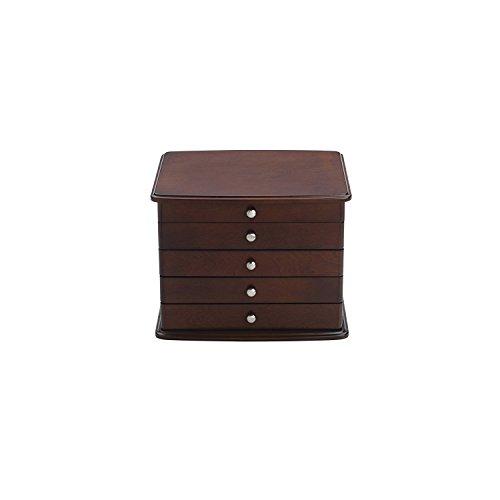 (Jewelry Storage Sophia 3 Drawer in Mahogany / Cream)