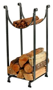 Enclume Sling Log Rack, Hammered Steel by Enclume Hearth
