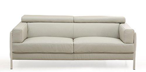 Whiteline Modern Living Imports Diamond Leather Sofa