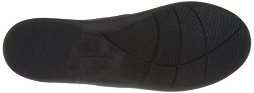 Clarks Womens Cloudsteppers Sillian Blair Slip-on Mocassino In Nabuk Sintetico Nero