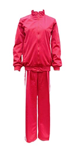 GK-O Anime Haikyuu Nekoma High School Volleyball Club Cosplay Costume Uniform Kozume Kenma Jacket & Pants Set (Asian Size Medium) Red (Kenma Uniform)