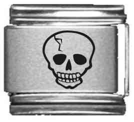Buy italian charms skull