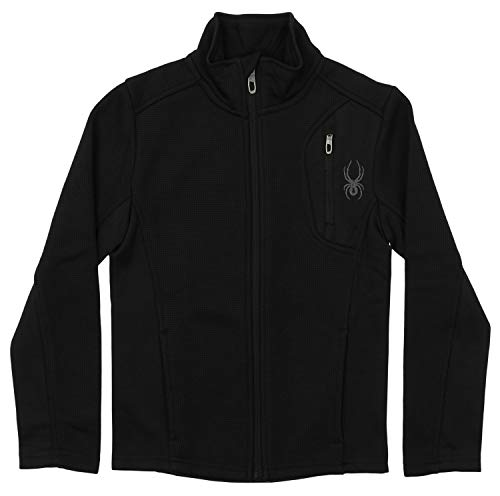 Spyder Boy's Youth Raider Full Zip Sweater Black M