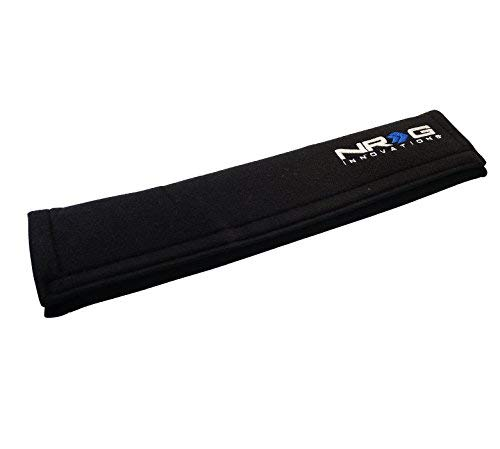 "NRG Innovations SBP-35BK Black Seat Belt Pad  x 17.3"" Long)"