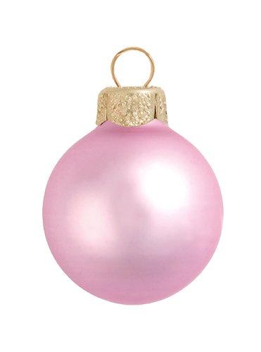Pink Christmas Ornaments.Amazon Com 28ct Matte Pale Pink Glass Ball Christmas