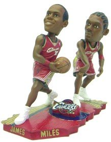 Cleveland Cavaliers James & Miles Forever Collectibles Bobble Mates by Forever Collectibles