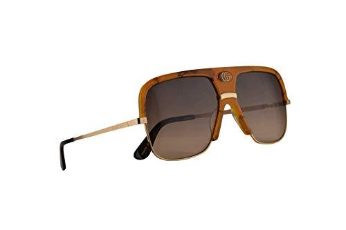 Gucci GG0478S Sunglasses Havana Gold w/Brown Gradient Lens 59mm 003 GG0478/S 0478/S GG 0478S