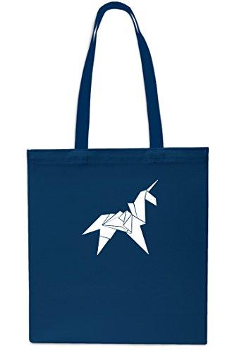 10 Beach Small 42cm litrest Bag Unicorn Navy Origami x38cm Navy Shopping Gym Tote AqWBOFw