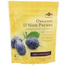 Sunsweet Naturals Organic D'Noir Dried Pitted Prunes, 7-ounce Bags (Case of 12)