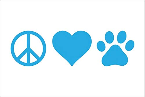 kiskistonite Peace Love Paw, Adopt Vinyl Decal, Decal, Animal Lover Tumbler Decal, Dog Mom Laptop Decal, Animal Rescue Decal, Shelter Dog, Rescue, Cat, Decal for Wall Bedroom MacBook 5 inches