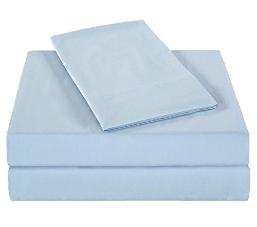 - PHF Bamboo Cotton Sheet Set 300T Deep Pocket 4 Pieces King Size Sky Blue
