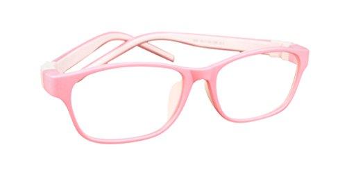 De Ding Kinder Silikon opical Brille pink weiß Rahmen