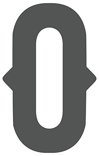 iCandy Products Inc Plastic Westmorland Single Letter Cutout Vintage Ready To Hang Monogram Home Decor, Gray (O) (7.5 In Tall)